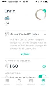 activar-kilómetros-reales